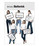 B5682 Misses' Four-Pocket Jeans and Trousers Sizes 6-14 Butterick Sewing... - $5.89