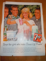 Vintage 7-UP  Magazine Advertisement June 1960 - $4.99