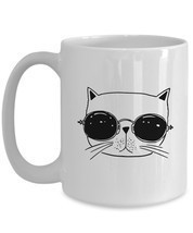 "Simply Sketched ""Cat with Sunglasses"" Handheld Sized - £19.56 GBP"