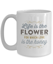 """Colorful & Inspiring """"Life Is The Flower For Which Love Is The Honey"""" Ha... - $24.99"""