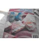 Mile-A-Minute Crochet Baby Booties - $5.00
