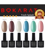 Bokarat Soak Off UV LED Gel Nail Polish 7.3ml x 6 pcs Supper Set ~Fresh ... - $21.99