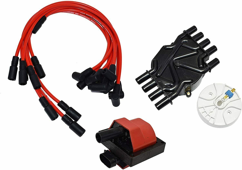 96-02 Chevy Vortec 305 350 454 Distributor Tune Up Kit, & 8.0mm Spark Plug Kit