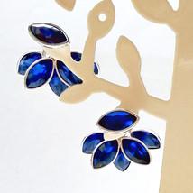 Blue Petals Ear Jackets - $21.00