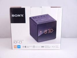 Sony FM/AM Clock Radio ICF- C1 Black - $19.78