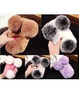 Hot Panda Super Luxury Warm Soft Rabbit Fur Skin Case Cover for iPhone 7... - $12.19
