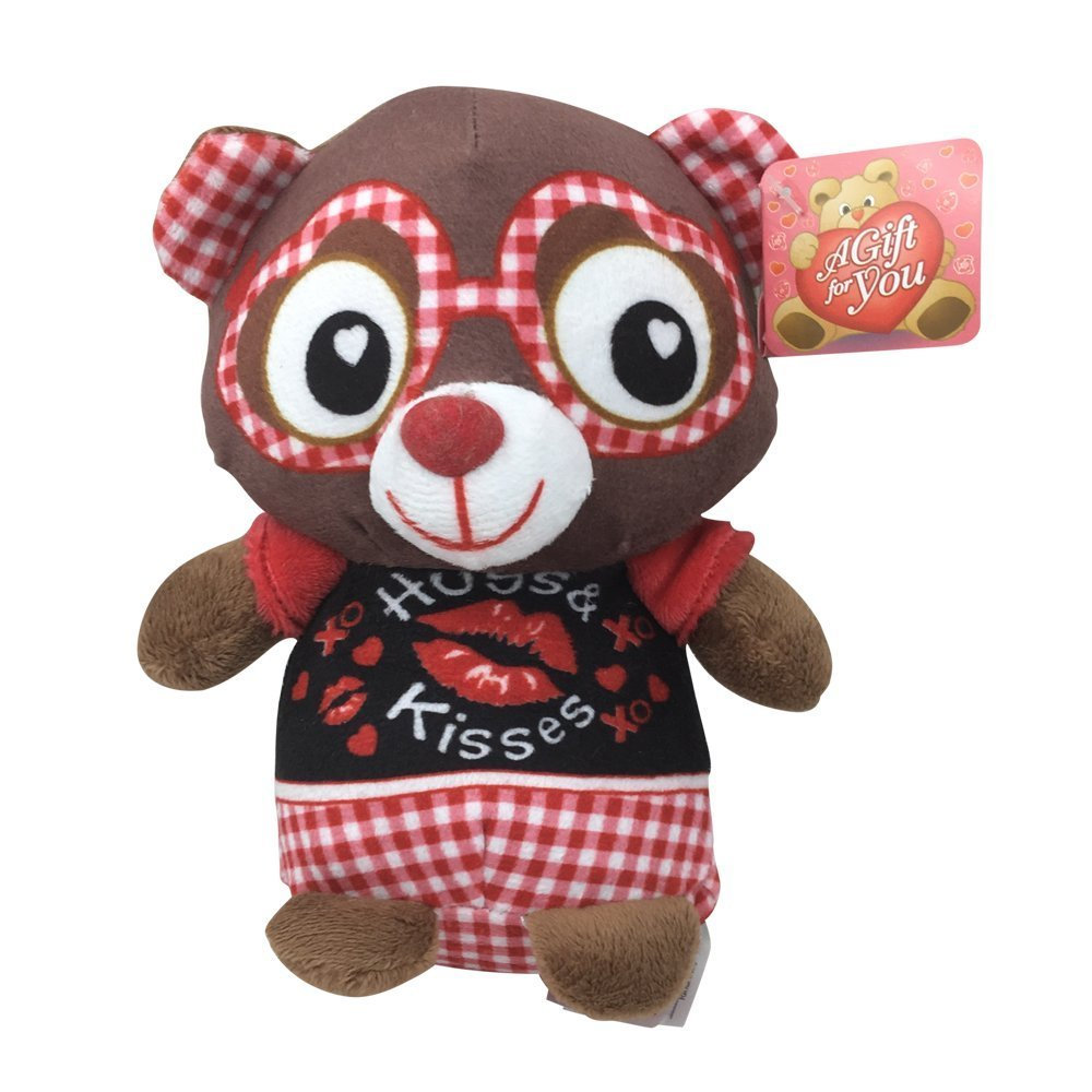7 '' VALENTINES PAL PLUSH (BROWN BEAR) - $3.99