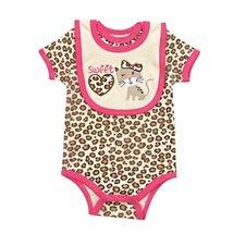 Bodysuit And Bib Set Sweet Kitty (6-9) - $9.79