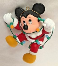 "Disney 3.5"" Mickey Mouse with Lights Figurine O... - $11.66"