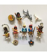 PLAYMOBIL Native American Indian Mixed Lot D Drum Circle Chief Drummers Skull - $16.40