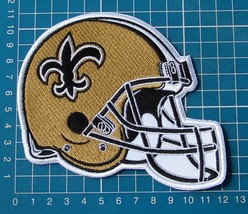 NEW ORLEANS SAINTS NFL FOOTBALL LOGO HELMET JERSEY PATCH SEW ON EMBROIDERY - $20.00