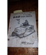 Tennant 240 power sweeper instruction manual and parts list book guide - $19.79