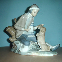 Lladro Nao Lesson For The Dog #140 Boy Figurine Handpainted - $579.00