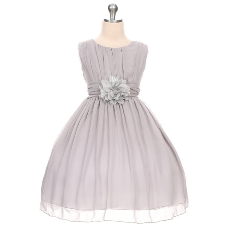 Aqua Round Neck Yoryu Chiffon Flower Girl Dresses Birthday Party Pageant Wedding