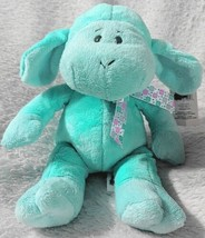 GANZ HE9835 Polyester Fiber 11 Inch Blue Tie Dye Lambie With A Satin Bow image 2