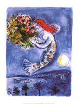 8x10 1/2 Chagall Print on Paper - $26.45