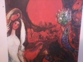 """9 1/2 x 11  Marc Chagall Print """"Le Village au Soleil sombre"""" - $26.45"""