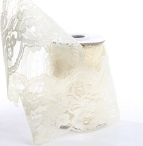 """Lace Ribbon in Ivory - 4"""" Wide x 10 yds. - $11.39"""
