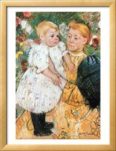 "Mary Cassatt 22x28 Museum Quality Print  ""In The Garden"" - $39.19"