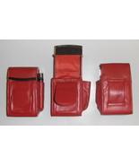 Genuine Leather Hard Cigarette Case - RED - $17.00