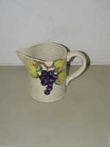 Vintage Fitz & Floyd Grapevine Grapes Ironstone Pitcher 17288 - $27.69