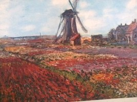 SOLD 20x24 Monet Tulips Print - $38.21