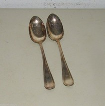 2 E H Smith Portial Serving Spoon Silverplate Silver Plate Large 16964 S... - $23.09
