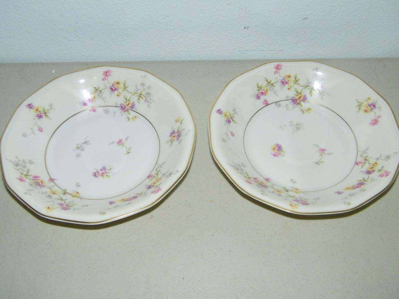 Primary image for 2 Vintage Theodore Haviland Rosamonde Soup Bowl 7 1/2 Inches 13476