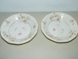2 Vintage Theodore Haviland Rosamonde Soup Bowl 7 1/2 Inches 13476 - $35.15