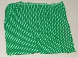 Vintage Green Polka Dot Quilt Weight Cotton Fabric 3/8 Yard 16753 - $6.00