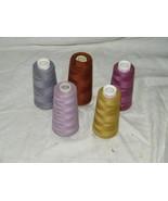 Sewing Thread 5 Spools Serger Maxi Lock  Cones Overlock 18406 - $20.58