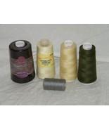 Sewing Thread 5 Spools Serger Maxi Lock   Overlock 18404 - $20.58