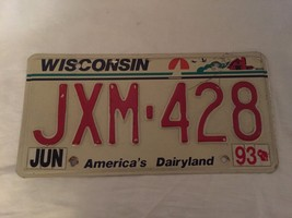 Vintage Wisconsin License Plate 1993 19875 Car Auto - $15.79