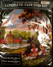 Twilleys Needlecraft Tapestry Kit #821 Young Couple Church Round Scene 1... - $49.49