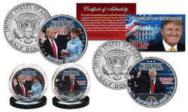 Donald Trump 45TH President Official Inauguration 1/20/2017 Jfk 2 Coin Set! Coa! - $24.99