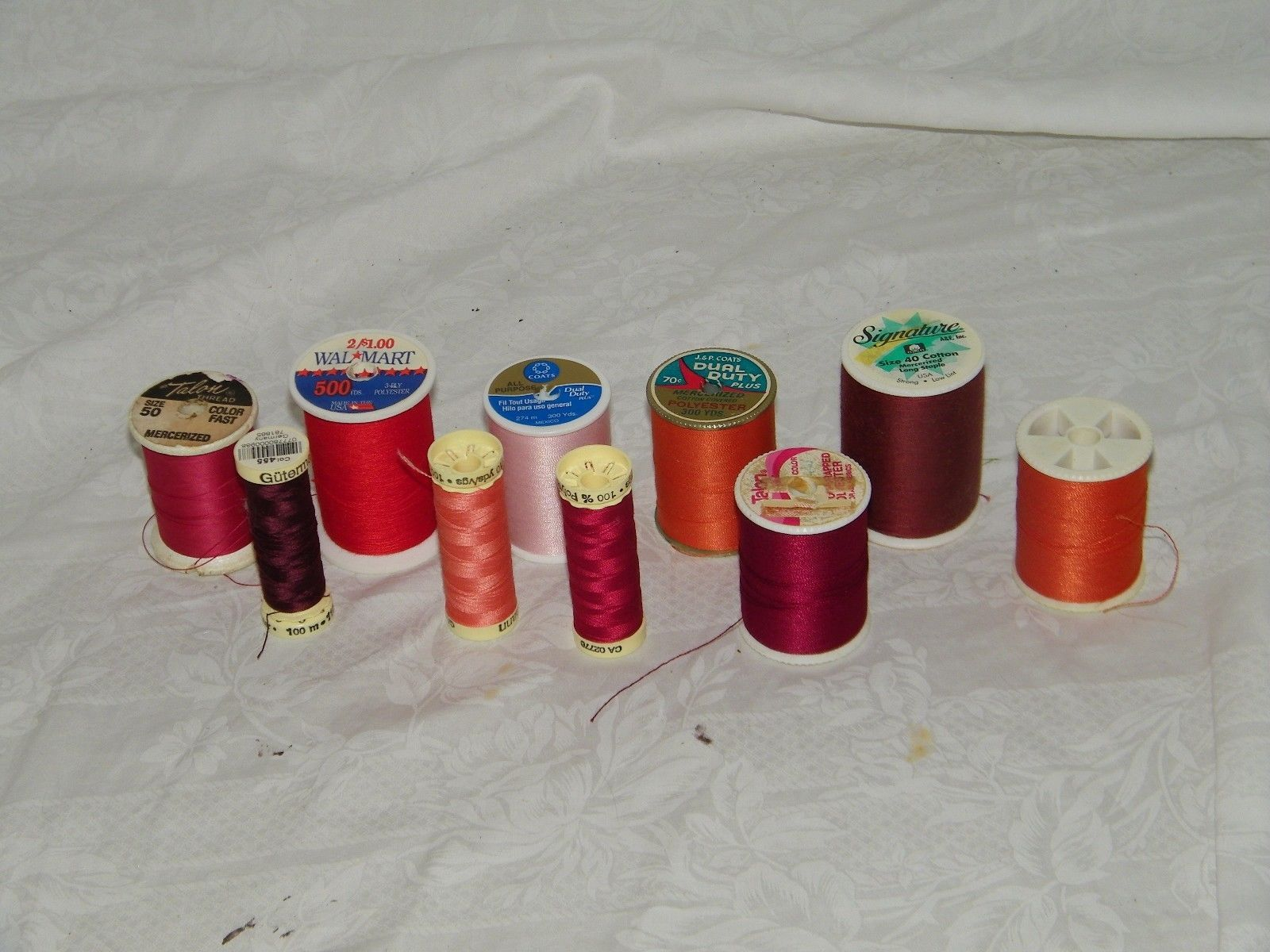 Sewing Thread 10 Spools Gutermann Quilting 18399 Coats Clark Signature