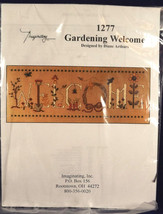 Imaginating Gardening Welcome Cross Stitch Kit Designer Diane Arthurs Se... - $19.79