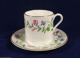 Royal Worcester Demitasse Cup Saucer Spring Flower Gold Trim England Bone China  - $21.77