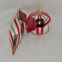 2 Handblown Glass Ornaments Poland World Market Ornament NWT 18995 - $12.91