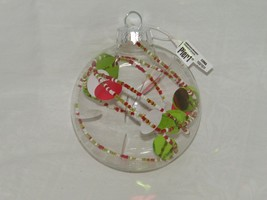 Pier One Clear Ball Ornament Beaded Beads 18994 - $8.77
