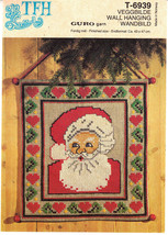 TFH Santa Claus Cross Stitch Kit T6939 Christmas Guro Yarn Wall Hanging ... - $40.83