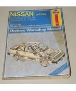 Nissan Sentra Datsun Owners Workshop Manual Haynes 16563 Repair 1982 198... - $13.99
