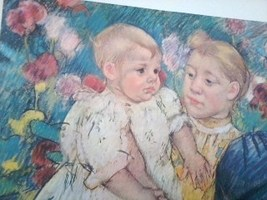 24x30  IN THE GARDEN Mary Cassatt - $63.69