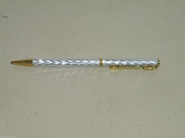 Vintage Tennis Silver Gold Ballpoint Pen Ball Point 17052 image 1