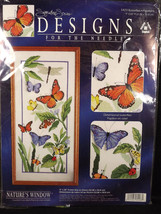 Designs For The Needle Butterflies Counted Cross Stitch Kit Color Graph ... - $15.83