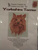 "Yorkshire Terrier Pegasus Originals Counted Cross Stitch Kit 5.75"" x 7.5... - $22.76"
