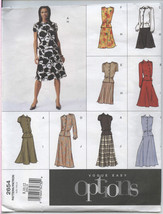 Vogue Easy Options Misses Top Skirt Variations Sewing Pattern 2654 Sz 8-... - $12.06