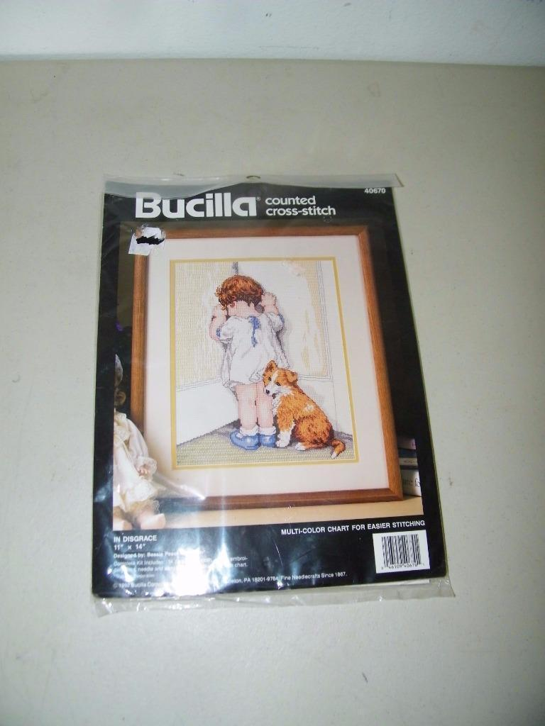 Bucilla Counted Cross Stitch Kit Vintage 1992 40670 In Disgrace 13984