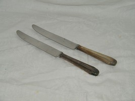 2 Reed & Barton STYLIST SILVERPLATE Dinner Knife 18494 Knives Knifes - $18.49