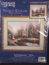 Candamar Thomas Kinkade Beyond Spring Gate Printed Cross Stitch Kit Seal... - $26.91